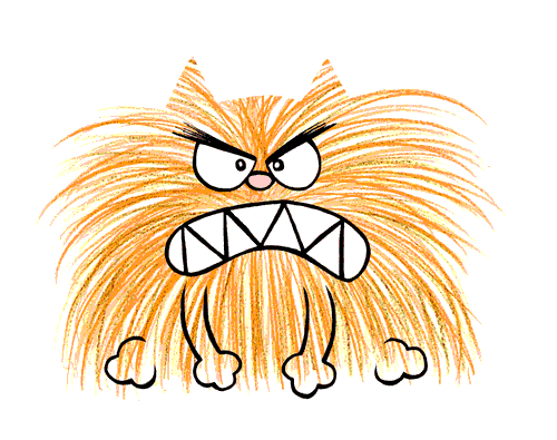 angry cat cartoon - photo #10